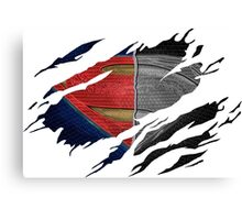 Man Of Steel Ripped Suit Canvas Print