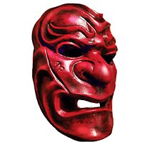 Red Mask Photographic Print