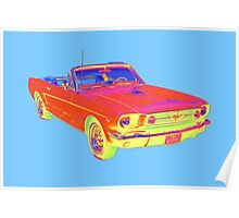1965 Ford Mustang Convertible Pop Image Poster