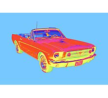 1965 Ford Mustang Convertible Pop Image Photographic Print