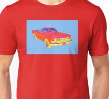 1965 Ford Mustang Convertible Pop Image Unisex T-Shirt