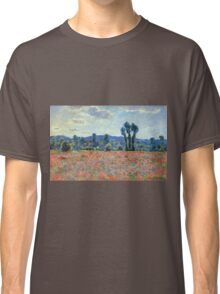 Claude Monet - Poppy Field In Giverny 03 Classic T-Shirt