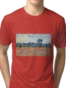 Claude Monet - Poppy Field In Giverny 03 Tri-blend T-Shirt