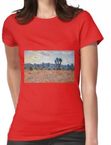Claude Monet - Poppy Field In Giverny 03 Womens Fitted T-Shirt
