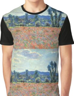 Claude Monet - Poppy Field In Giverny 03 Graphic T-Shirt
