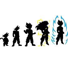 Dragonball Z Super Saiyan Evolution God Photographic Print