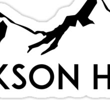 JACKSON HOLE WYOMING Mountain Skiing Ski Silhouette Snowboard Snowboarding Sticker