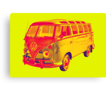 Classic VW 21 window Mini Bus Pop Art Canvas Print