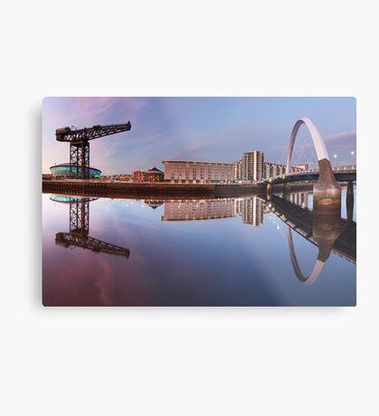 Bridge and Crane Metal Print