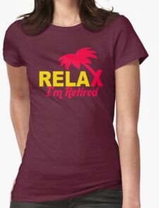 Relax Tree Womens Fitted T-Shirt