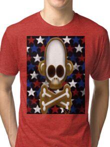 monkey skull and bones Tri-blend T-Shirt