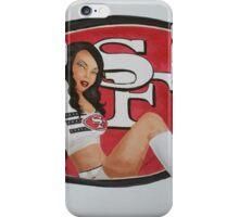 49ers cheerleader  iPhone Case/Skin
