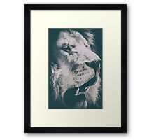 Wild Lion King Feline In Safari Portrait Framed Print