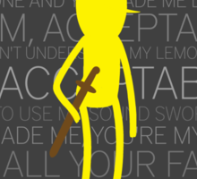 Lemongrab Silhouette & Quotes Sticker