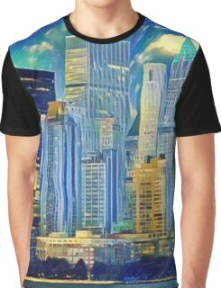 Abstract City Scape Graphic T-Shirt