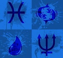 Astrology Design - Pisces by OddworldArt