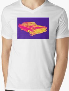 1960 Cadillac Luxury Car Pop Image Mens V-Neck T-Shirt