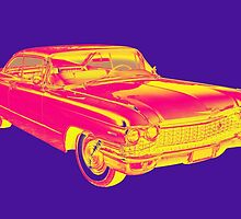 1960 Cadillac Luxury Car Pop Image by KWJphotoart