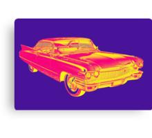 1960 Cadillac Luxury Car Pop Image Canvas Print