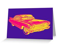 1960 Cadillac Luxury Car Pop Image Greeting Card