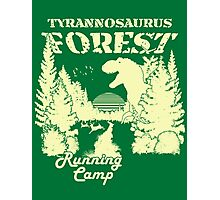 Tyrannosaurus Forest Running Camp Photographic Print