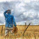 Out in the Fields Pencil by Edward Fielding
