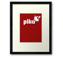 Pika pikachu puma logo parody Framed Print