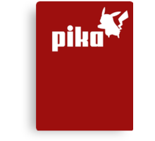 Pika pikachu puma logo parody Canvas Print