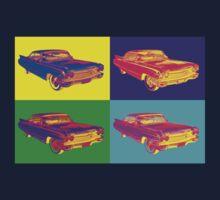 Colorful 1960 Cadillac Luxury Car Pop Art Kids Tee