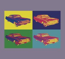 Colorful 1960 Cadillac Luxury Car Pop Art Kids Tee