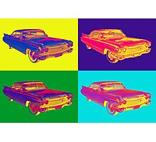 Colorful 1960 Cadillac Luxury Car Pop Art Photographic Print