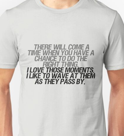 I like to wave at them as they pass by Unisex T-Shirt