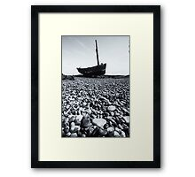 Beached - Dungeness Framed Print