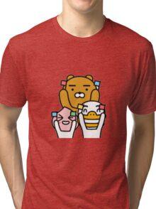 KakaoTalk Friends Tube, Apeach & Ryan Trio Tri-blend T-Shirt