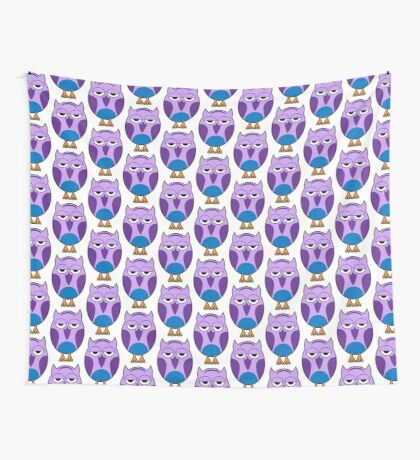 Blue Owl Blues Wall Tapestry