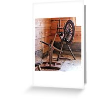 Swedish Spinning Wheel Greeting Card