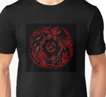 Neon Red Circle Unisex T-Shirt