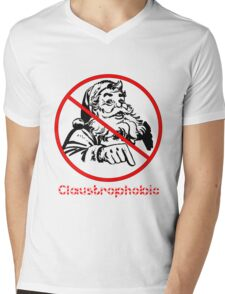 Claustrophobic Mens V-Neck T-Shirt