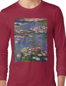Claude Monet - Water Lilies 40 Long Sleeve T-Shirt