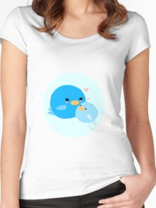 Mama and Baby Bird Women's Fitted Scoop T-Shirt
