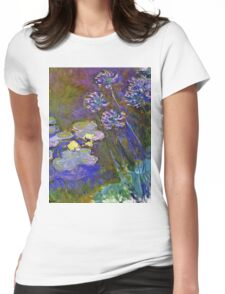 Claude Monet - Water Lilies And Agapanthus 1917 Womens Fitted T-Shirt