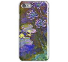 Claude Monet - Water Lilies And Agapanthus 1917 iPhone Case/Skin