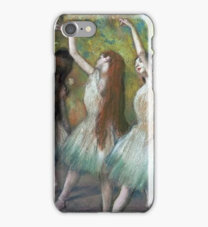 Edgar Degas - Green Dancers iPhone Case/Skin