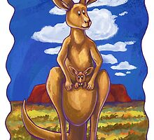 Animal Parade Kangaroo by ImagineThatNYC