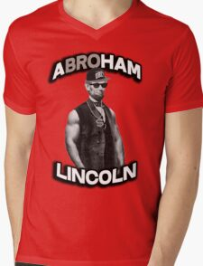 Abroham Lincoln. Abraham lincoln, abolish sleevery. Mens V-Neck T-Shirt