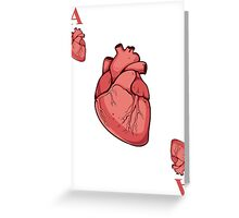 Ace of Hearts Greeting Card