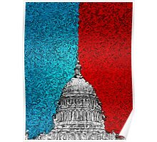 Capitol Building Abstract Poster