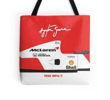 Ayrton Senna's 1992 McLaren MP4/7 Tote Bag