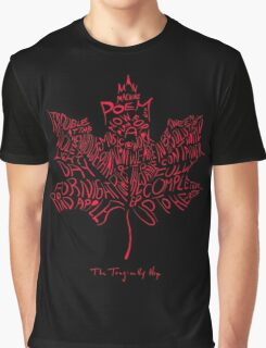TRAGICALLY HIP - typography edition red Graphic T-Shirt