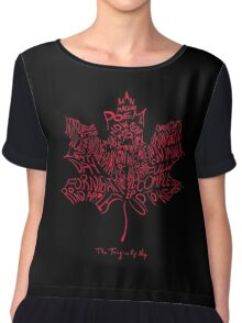 TRAGICALLY HIP - typography edition red Chiffon Top